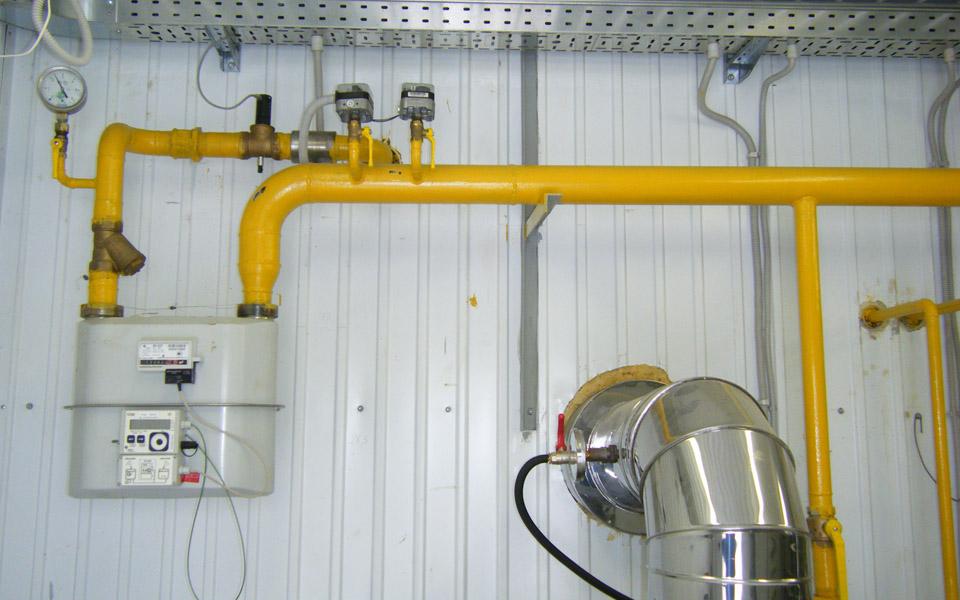 строительство внутренних газопроводов котельной