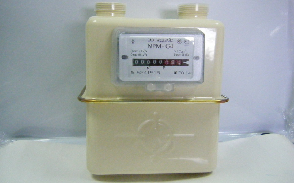 Счетчики газа бытовые «Гелиос» G2,5